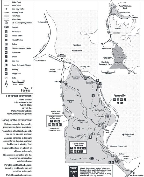 Cardinia Reservoir Map