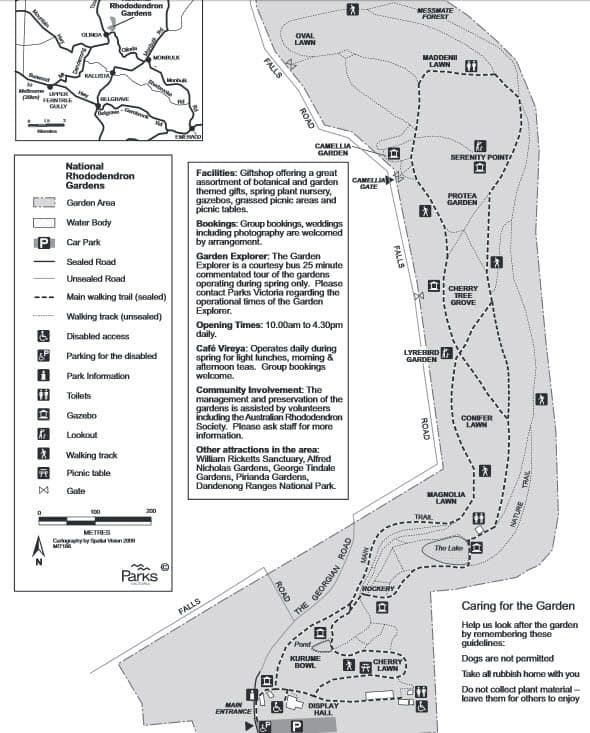 National Rhododendron Gardens Map